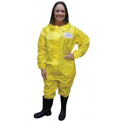 International Enviroguard - 7012YS-L - Collared Chemical Resistant Coveralls with Elastic Cuff, Yellow, L, Chemsplash 1