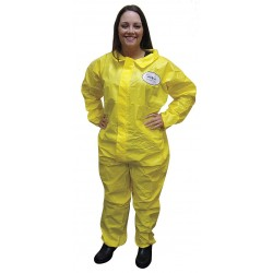 International Enviroguard - 7013YS-2XL - Collared Chemical Resistant Coveralls with Elastic Cuff, Yellow, 2XL, Chemsplash 1