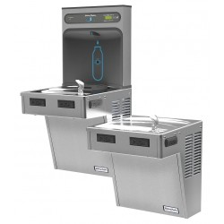 Halsey Taylor - HTHB-HAC8BLSS-NF - Refrigerated Wall Water Cooler with Bottle Filling Station, 2 Level, Electronic Sensor Dispenser Ope