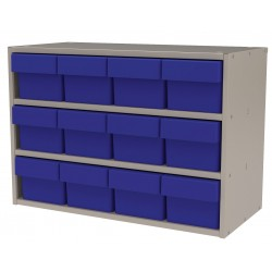 "Akro-Mils / Myers Industries - AD2311P62BLU - Drawer Bin Cabinet, 16-1/2"" Overall Height, 23"" Overall Width, Number of Drawers or Bins 12"