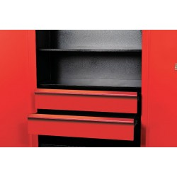 Hallowell - FKSCD36-2RR-HT - Red 14-Ga Formed Cold Rolled Sheet Steel Cabinet Drawer Kit, 29-1/2 Width