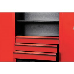 Hallowell - FKSCD36-3RR-HT - Red 14-Ga Formed Cold Rolled Sheet Steel Cabinet Drawer Kit, 29-1/2 Width