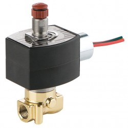 Red Hat - EF8314H300 - 24VDC Brass Solenoid Valve, Universal, 1/4 Pipe Size