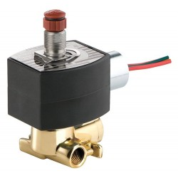 Red Hat - EF8317H307 - 24VDC Brass Solenoid Valve, Universal, 1/4 Pipe Size