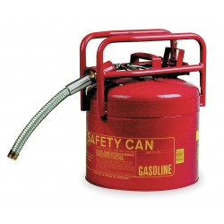 Eagle Mfg - 1215 - Eagle 5 Gallon Red 24 Gauge Galvanized Steel Type II Safety Can With 7/8 OD Flexible Spout And Flame Arrestor, ( Each )