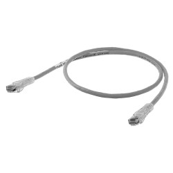 Hubbell - HC6GY07 - Gray Ethernet Cable, Connector Type: RJ45 - 8P8C, Boot Type: Clear Boot, 7 ft. Length