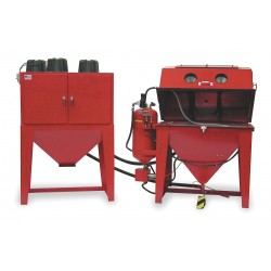 Econoline - 101696SG-A - Pressure-Feed Soda Blast Cabinet, Work Dimensions: 23 x 42 x 24, Overall: 65 x 55 x 42