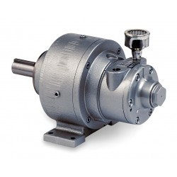 Gast - 4AM-RV-127-GR20 - 1.5 Foot Mounted Air Gearmotor with 1 Shaft Dia. and 1/4 NPT Port Size