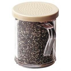 Cambro - CA96SKRD135 - Shaker, Salt/Peppr, Clear w/Beige Lid, PK12
