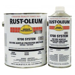 Rust-Oleum - 207277-7243 - Black Urethane Activator and Finish Kit, High Gloss Finish, 360 to 860 sq. ft./gal. Coverage, Size: