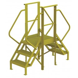 Tri Arc - 7CY73 - Crossover Bridge, Steel, 30 Platform Height, 20 Span, Number of Steps 3