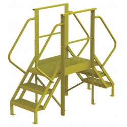 Tri Arc - 7CY74 - Crossover Bridge, Steel, 30 Platform Height, 30 Span, Number of Steps 3