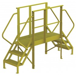 Tri Arc - 7CY76 - Crossover Bridge, Steel, 30 Platform Height, 50 Span, Number of Steps 3
