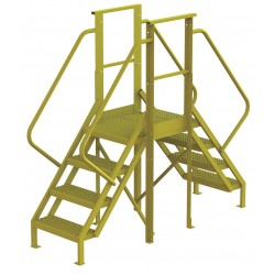 Tri Arc - 7CY77 - Crossover Bridge, Steel, 40 Platform Height, 20 Span, Number of Steps 4
