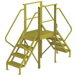 Tri Arc - 7CY78 - Crossover Bridge, Steel, 40 Platform Height, 30 Span, Number of Steps 4