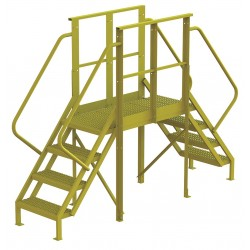 Tri Arc - 7CY79 - Crossover Bridge, Steel, 40 Platform Height, 40 Span, Number of Steps 4
