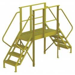 Tri Arc - 7CY80 - Crossover Bridge, Steel, 40 Platform Height, 50 Span, Number of Steps 4