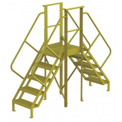 Tri Arc - 7CY81 - Crossover Bridge, Steel, 50 Platform Height, 20 Span, Number of Steps 5