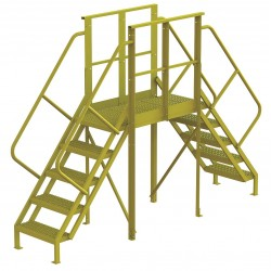Tri Arc - 7CY83 - Crossover Bridge, Steel, 50 Platform Height, 40 Span, Number of Steps 5