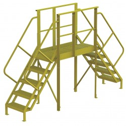 Tri Arc - 7CY84 - Crossover Bridge, Steel, 50 Platform Height, 50 Span, Number of Steps 5