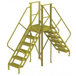 Tri Arc - 7CY85 - Crossover Bridge, Steel, 60 Platform Height, 20 Span, Number of Steps 6