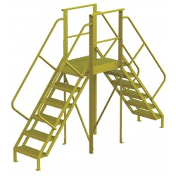 Tri Arc - 7CY86 - Crossover Bridge, Steel, 60 Platform Height, 30 Span, Number of Steps 6
