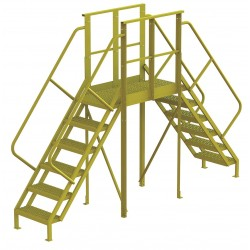 Tri Arc - 7CY87 - Crossover Bridge, Steel, 60 Platform Height, 40 Span, Number of Steps 6