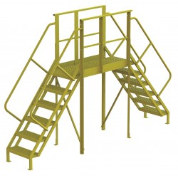 Tri Arc - 7CY88 - Crossover Bridge, Steel, 60 Platform Height, 50 Span, Number of Steps 6