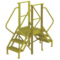 Tri Arc - 7CY89 - Crossover Bridge, Steel, 30 Platform Height, 20 Span, Number of Steps 3