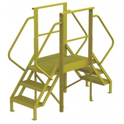 Tri Arc - 7CY90 - Crossover Bridge, Steel, 30 Platform Height, 30 Span, Number of Steps 3