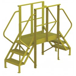 Tri Arc - 7CY91 - Crossover Bridge, Steel, 30 Platform Height, 40 Span, Number of Steps 3