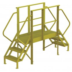 Tri Arc - 7CY92 - Crossover Bridge, Steel, 30 Platform Height, 50 Span, Number of Steps 3