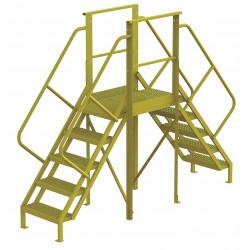 Tri Arc - 7CY98 - Crossover Bridge, Steel, 50 Platform Height, 30 Span, Number of Steps 5