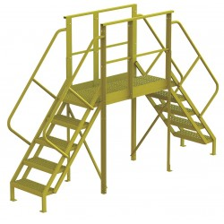 Tri Arc - 7CZ00 - Crossover Bridge, Steel, 50 Platform Height, 50 Span, Number of Steps 5