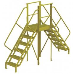Tri Arc - 7CZ02 - Crossover Bridge, Steel, 60 Platform Height, 30 Span, Number of Steps 6