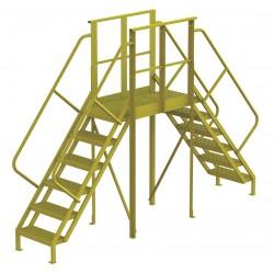 Tri Arc - 7CZ03 - Crossover Bridge, Steel, 60 Platform Height, 40 Span, Number of Steps 6