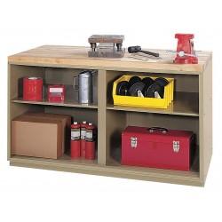 Edsal - 4TW50 - Cabinet Workbench, Butcher Block, 30 Depth, 34 Height, 72 Width