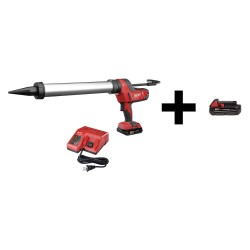 Milwaukee Electric Tool - 2642-21CT / 48-11-1820 - Caulk Gun with Additional Battery, 18V