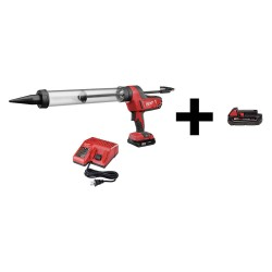 Milwaukee Electric Tool - 2643-21CT / 48-11-1820 - Caulk Gun with Additional Battery, 18V