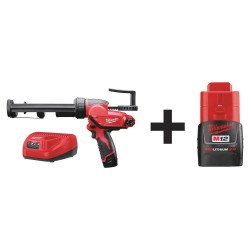 Milwaukee Electric Tool - 2441-21 48-11-2420 - Cordless Caulk Gun Kit, 12.0V