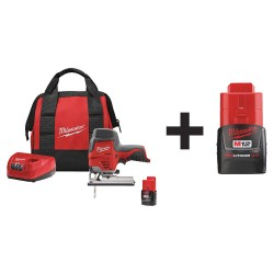Milwaukee Electric Tool - 2445-21 48-11-2420 - Cordless Jigsaw Kit, 12.0V