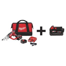 Milwaukee Electric Tool - 2635-22 48-11-1840 - Cordless Shear Kit, 18.0V, Li-Ion Battery