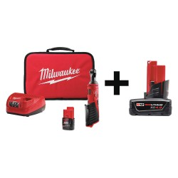 Milwaukee Electric Tool - 2456-21 48-11-2440 - Cordless Ratchet Kit, 1/4in., Add Bat, 12V