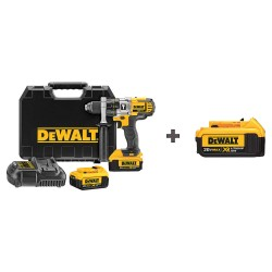 Dewalt - DCD985M2 DCB204 - 1/2 Cordless Hammer Drill Kit, 20.0 Voltage, Battery Included