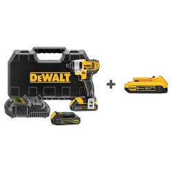 Dewalt - DCF885C2 DCB203 - 1/4 Cordless Impact Driver, 20.0 Voltage, 1400 in.-lb. Max. Torque, Battery Included