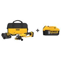 Dewalt - DCG412P2 DCB205 - 4-1/2 20V MAX Cordless Angle Grinder Kit, 20.0 Voltage, 7000 No Load RPM, Battery Included