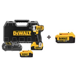 Dewalt - DCF885M2 DCB204 - 1/4 Cordless Impact Driver, 20.0 Voltage, 1400 in.-lb. Max. Torque, Battery Included