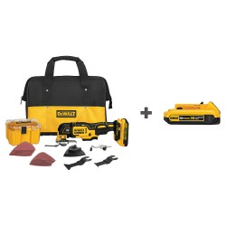 Dewalt - DCS355D1 DCB203 - Oscillating Tool Kit, 2.0A/hr., In-Line