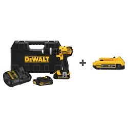 Dewalt - DCD785C2 DCB203 - 1/2 Cordless Hammer Drill Kit, 20.0 Voltage, Battery Included