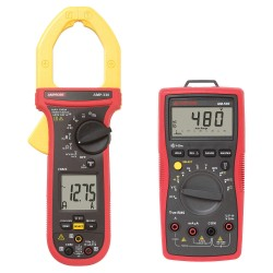 Amprobe - 34NK45 + 12U584 - Clamp On Digital Clamp Meter, -40 to 752F Temp. Range, 2 Jaw Capacity, CAT IV 600V, CAT III 1000V